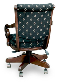 C 2715 Game chair wilth wheels back view