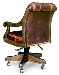back sitting chair in leather