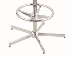 Chrome Four leg base with optional foot rest