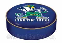 Notre Dame Leprechaun Bar Stool Seat Cover