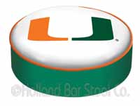University of Miami FL Bar Stool Seat Cover