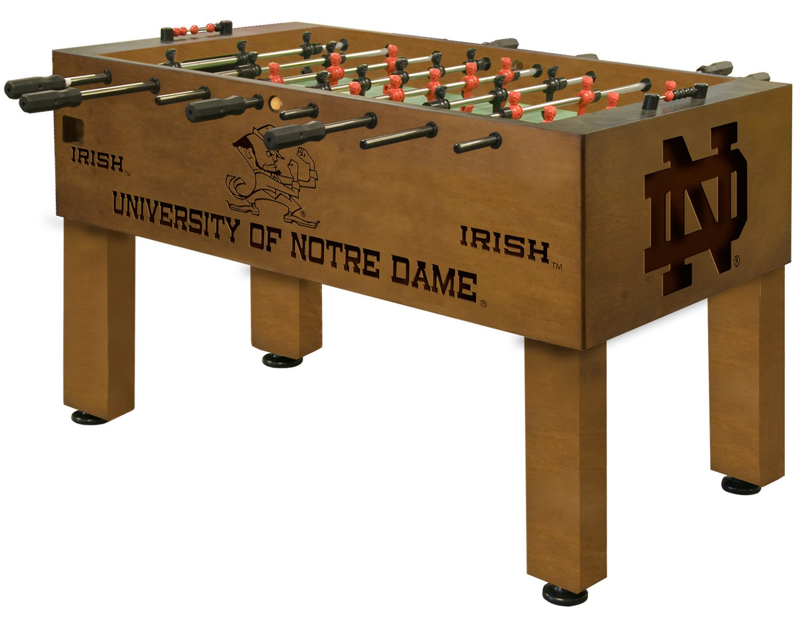 Beau Notre Dame ND Foosball Table