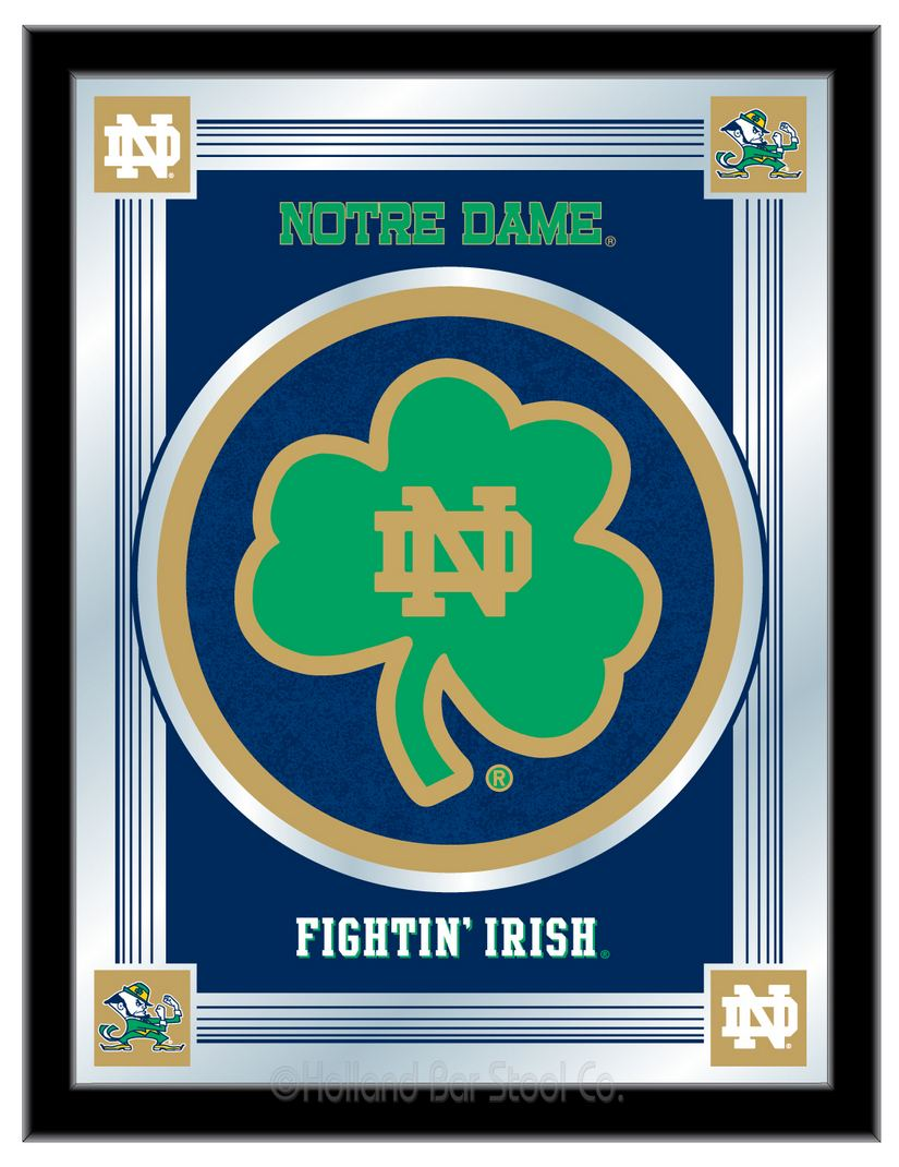 Notre Dame Shamrock Mirror 100 Made In Usa Manufactured