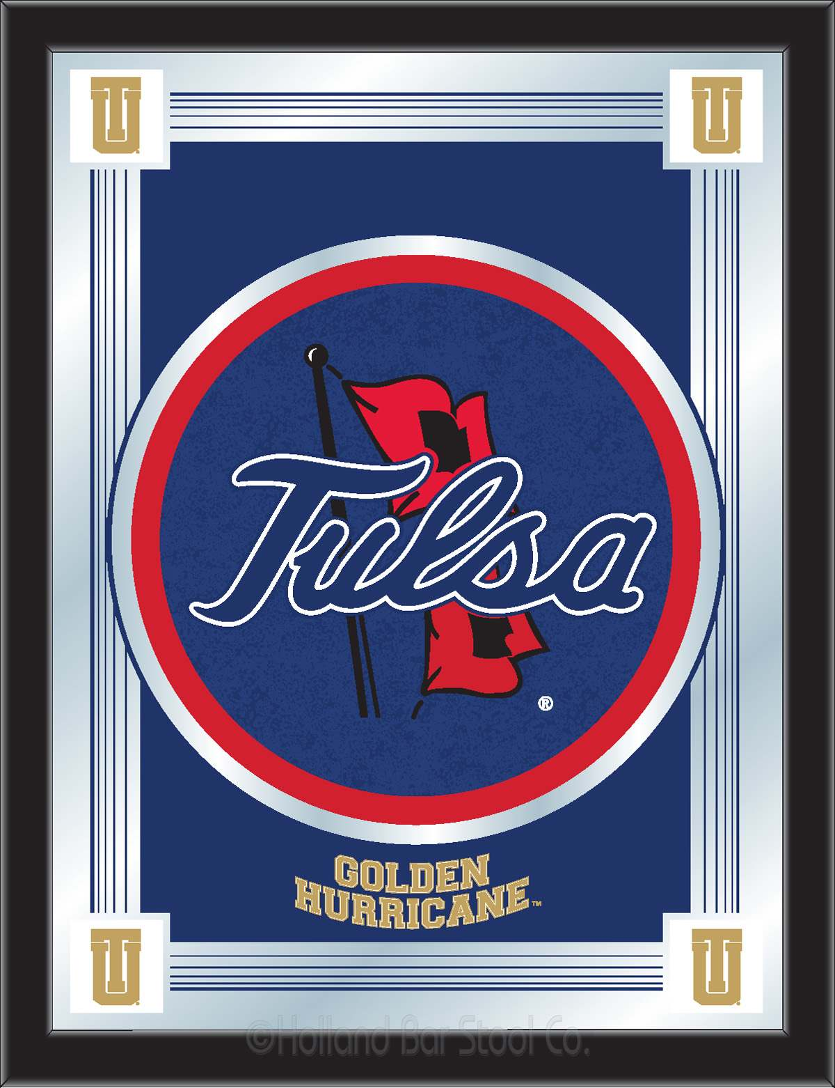 University Of Tulsa Mirror 100 Made In Usa Manufactured