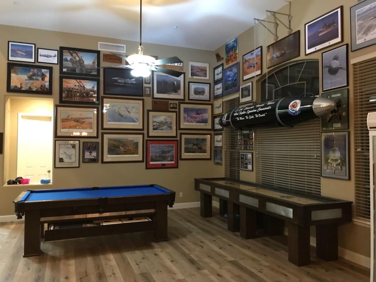 custom pool table and shuffleboard tables