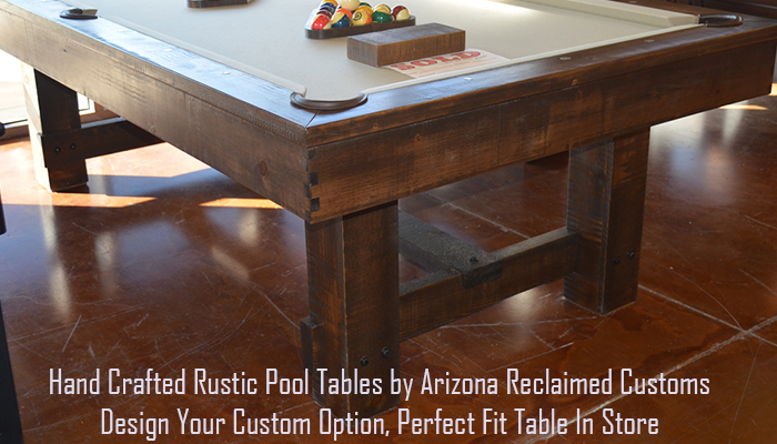 hand made custom pool table