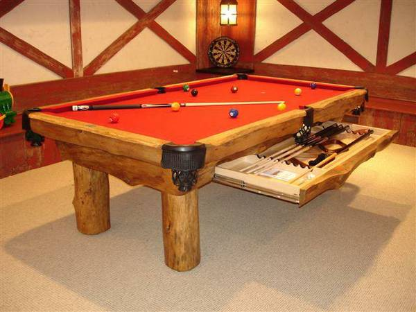 lodge pole pool table custom sizes. Black Bedroom Furniture Sets. Home Design Ideas