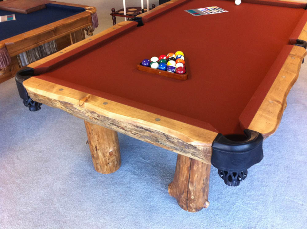 montana log pol pool table custom options available. Black Bedroom Furniture Sets. Home Design Ideas