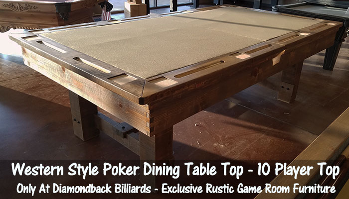 Custom Pool Tables By Diamondback Billiards On Sale - Pool table top only