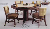 dining table and poker table