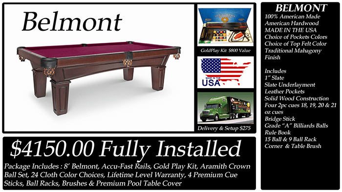 belmont pool table