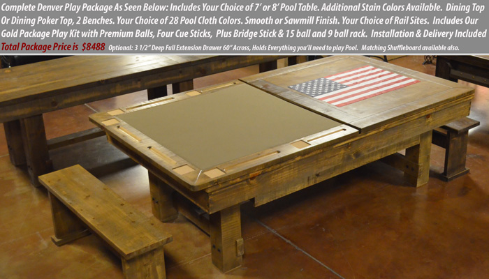 Rustic Pool Table Sale
