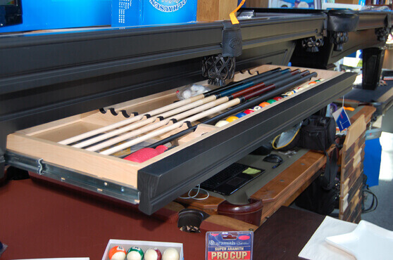 pool table with pul out drawer
