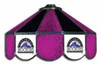 Colorado Rockies  Three Lamp Pool Table Lights