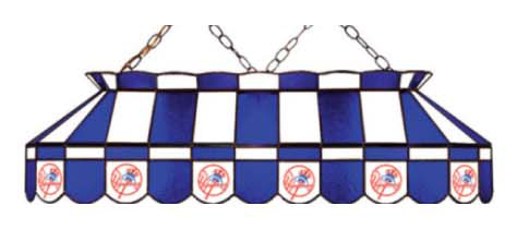 New York Yankees Stained Glass Shade Pool Table Lights