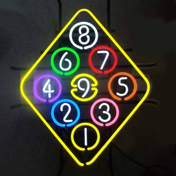 9 Ball Rack Neon Sign