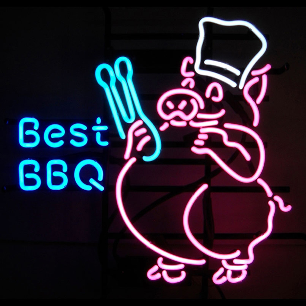 Best BBQ Neon Sign 100% made in USA, manufactured by Neonetics