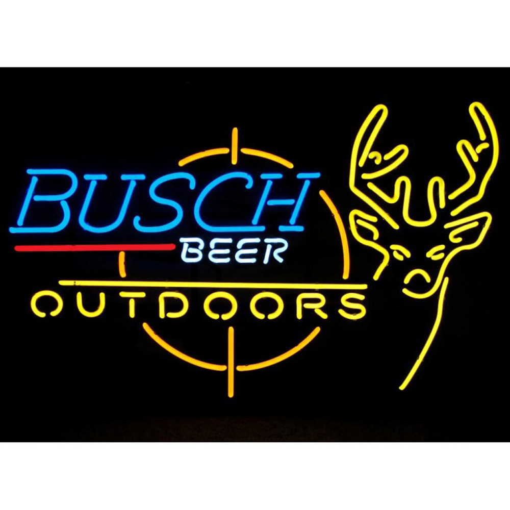 Busch Outdoors Neon Sign 100% made in USA, manufactured by