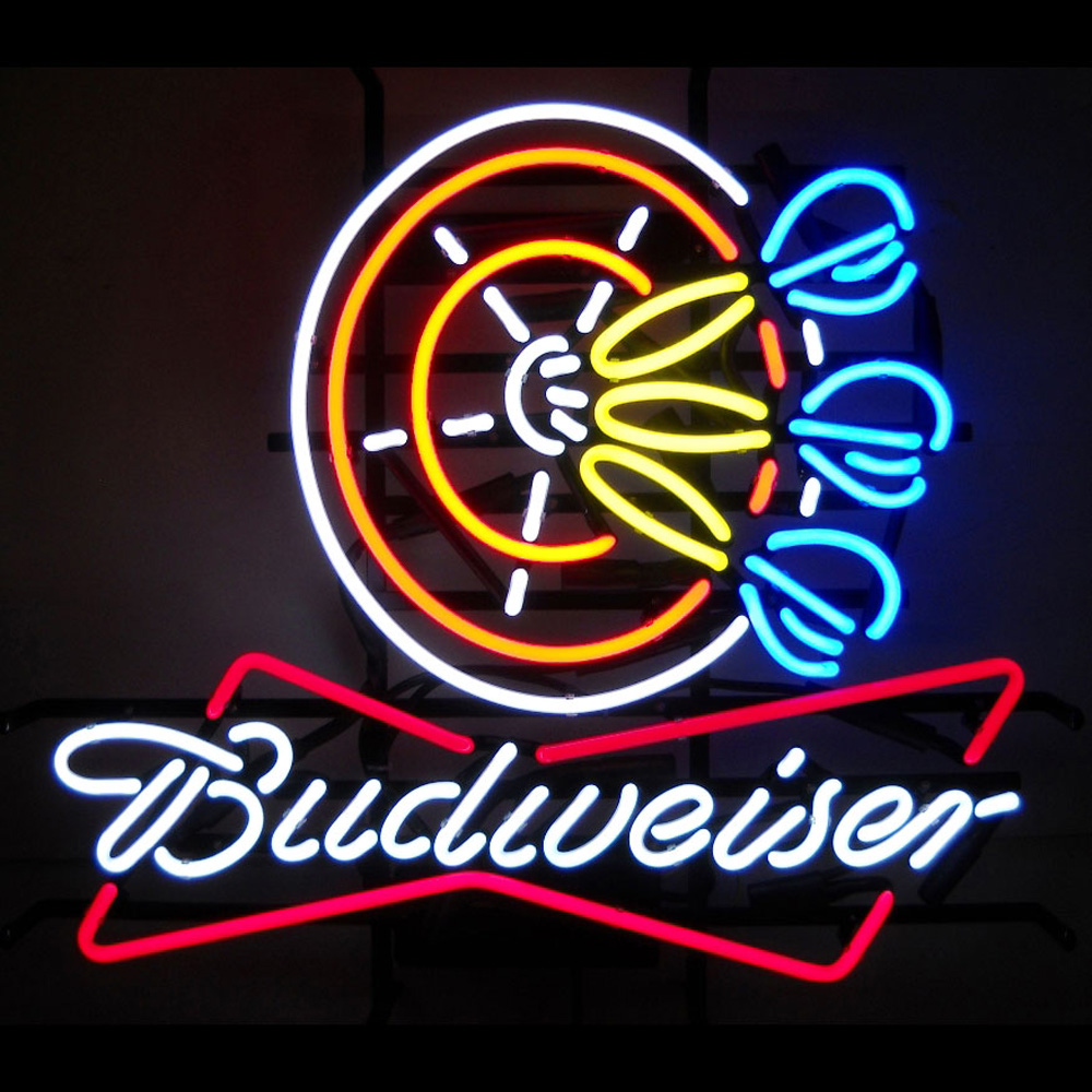 Budweiser Darts Neon Sign 100 Made In Usa Manufactured