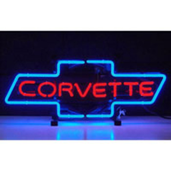 GM Corvette Bowtie Neon Sign