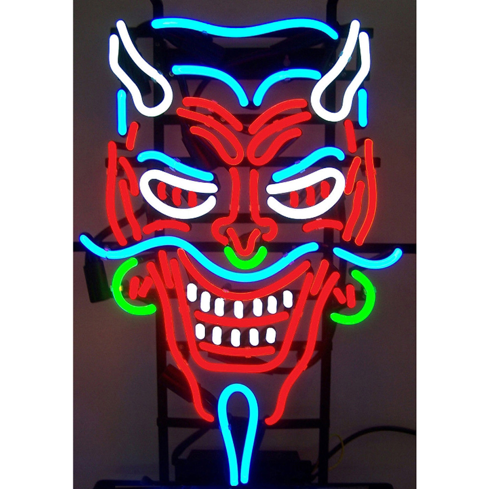Devil Neon Sign 100% made in USA, manufactured by Neonetics