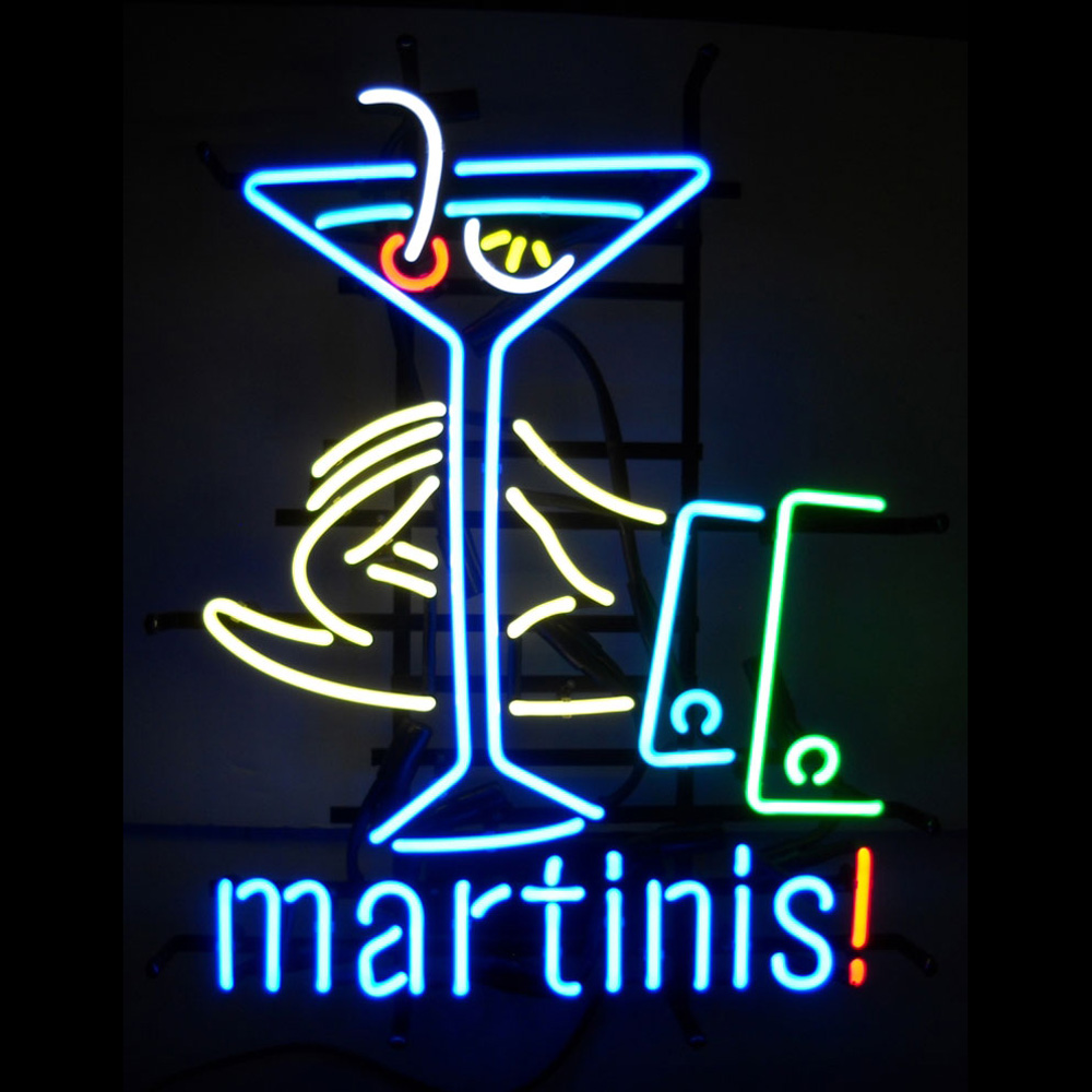 Martinis! Neon Sign 100% made in USA, manufactured by ...