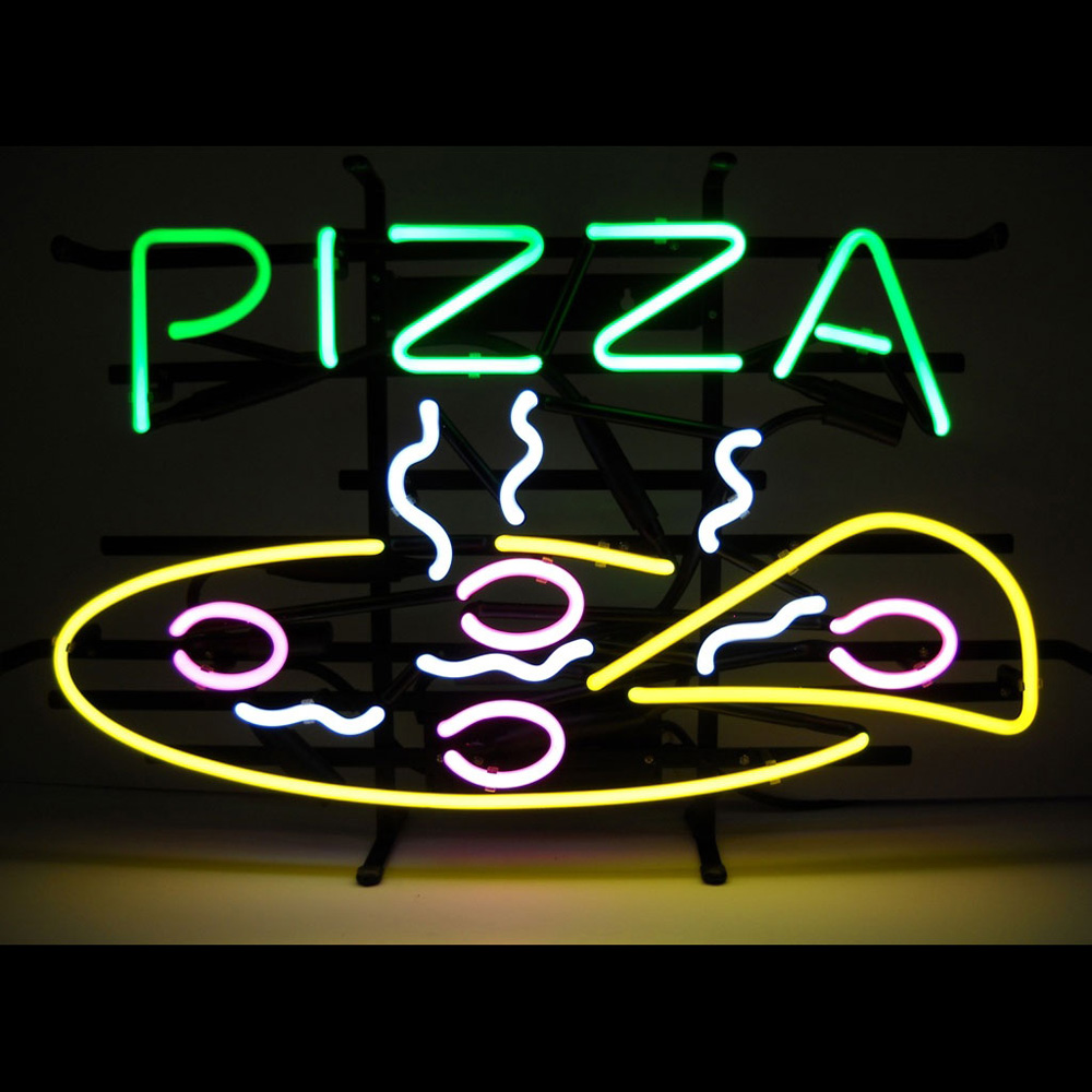 Pizza Neon Sign 100% made in USA, manufactured by Neonetics