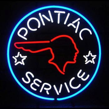 GM Pontiac Service Neon Sign