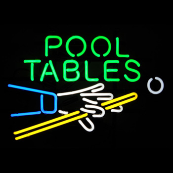 Pool Tables Neon Sign