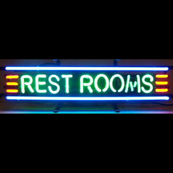 Rest Rooms Neon Sign