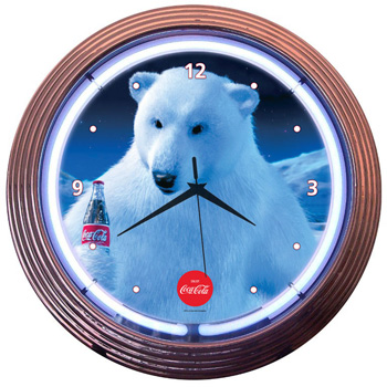 Coca-Cola Polar Bear Neon Clock