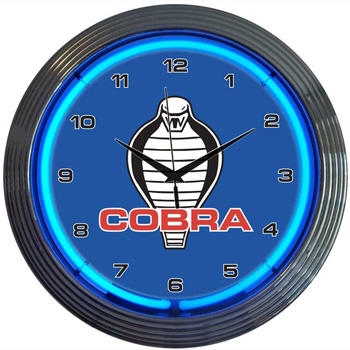 Ford Cobra Neon Clock