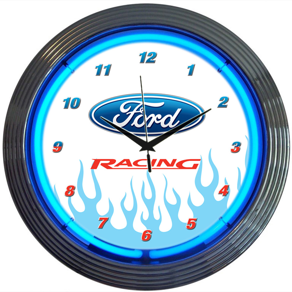 Ford Racing Neon Clock 100% made in USA, manufactured by ...