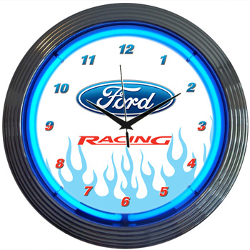 Ford Racing Neon Clock