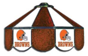 Cleveland Browns Nfl Three Lamp Pool Table Lights