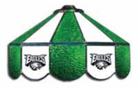 Philadelphia Eagles NFL Three Lamp Pool Table Lights