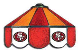 San Francisco 49ers NFL Three Lamp Pool Table Lights