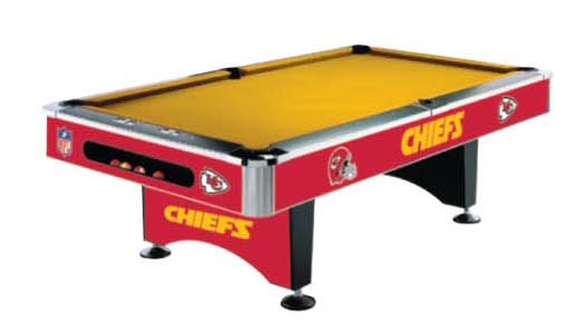 Kansas City Chiefs NFL Pool Table