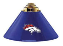 Denver Broncos Nfl Three Metal Shade Pool Table Lights