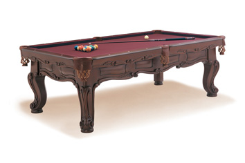 Cavalier Carved Pool Table