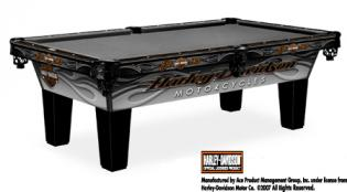 Harley Davidson laminate pool table