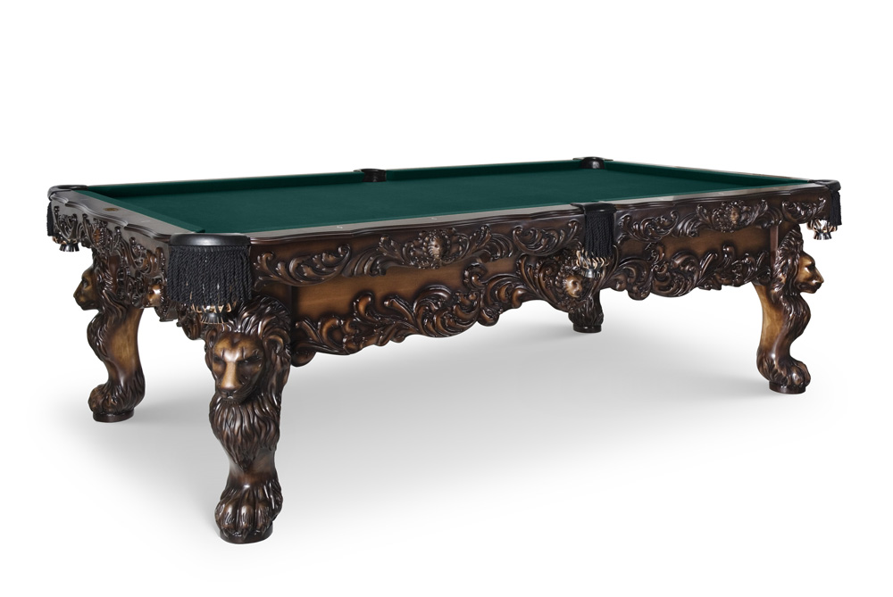 Fully Carved St Leone Pool Table Hand Carved Pool Table - King of pool table