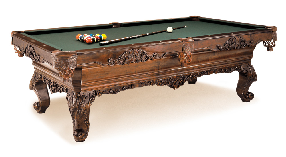 symphony pool table, luxurious solid wood carvings