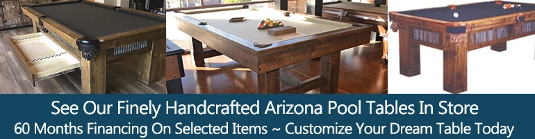 hand crafted pool tables made in arizona