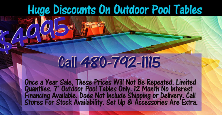 Outdoor Summer  Pool Table Sale