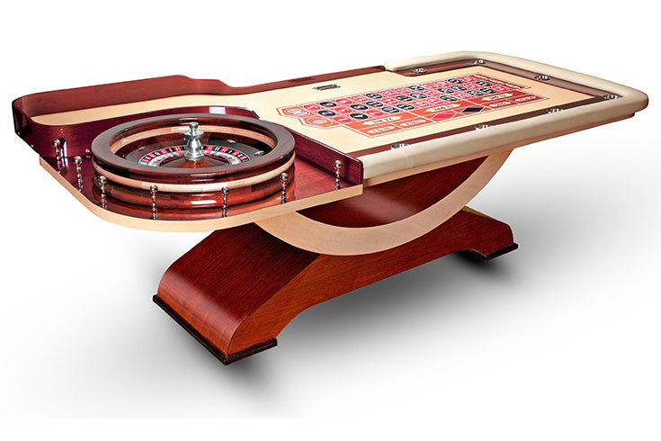 Cleopatra custom made roulette table - Table a roulette ...