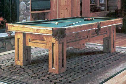 gallantin rustic pool table