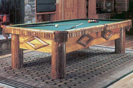 glacier log pool table