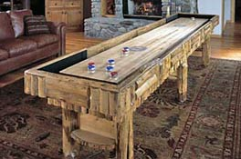 rustic shuffleboard tables