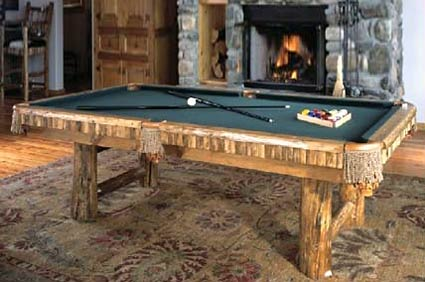 targhee Rustic pool table